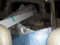車内に放置中のエアロ